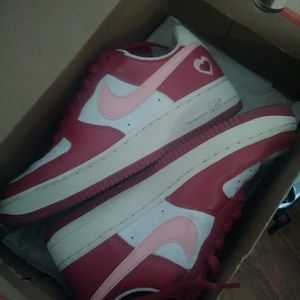 Valentine's Day edition Air Force 1s